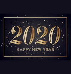 2020 happy new year greeting card vector image