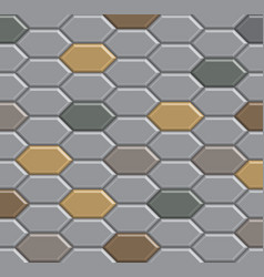 3d brick stone pathway pattern vector