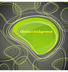 Abstract background with green bubble vector