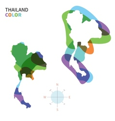 Abstract color map of Thailand vector