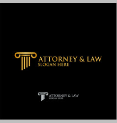 abstract table attorney law logo template vector image