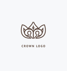 abstract vetor crown logo design sign for vector image