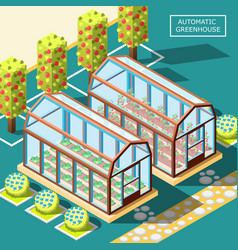 Agricultural robots isometric poster vector