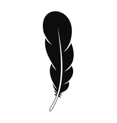 Animal feather icon simple style vector