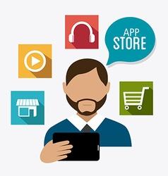 App store digital design vector