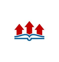 arrow book logo icon design vector image