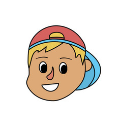 avatar boy head with hairstyle design vector image