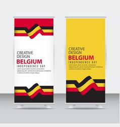 Belgium independent day poster creative design vector