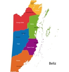 Belize map vector image