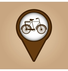 bicycle symbol vintage color icon vector image