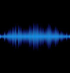 Blue sound waveform with triangular light filter vector