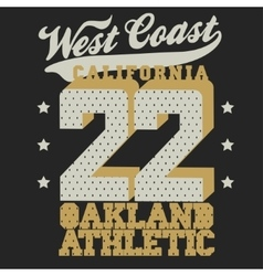 California sport T-shirt design vector