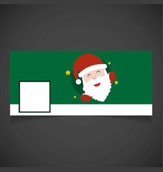 Christmas social media coverwith santa vector