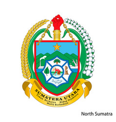 Coat arms north sumatra is a indonesian vector