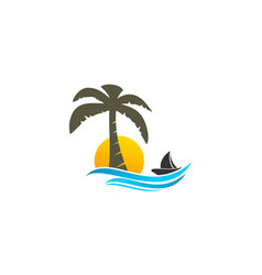 coconut tree logo vector image