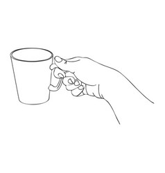 Cooking hand with cup vector