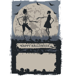 Couple skeleton dancing vector