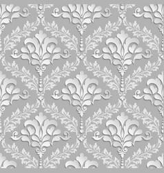 damask seamless pattern background elegant luxury vector image