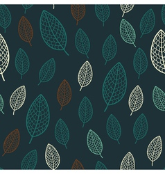 Dark stylish floral seamless pattern vector image