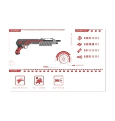 Details of gun shotgun game perks vector