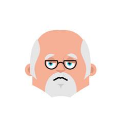doctor sad emotion avatar physician sorrowful vector image