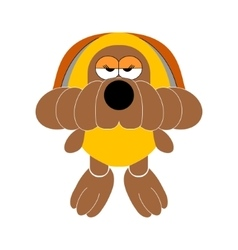 Dog soft toy doggy vector