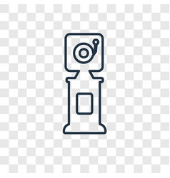 electronics concept linear icon isolated on vector image