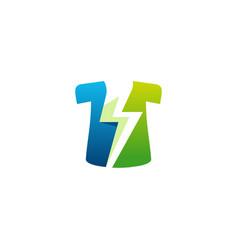 fast wash logo designs concept flash laundry logo vector image