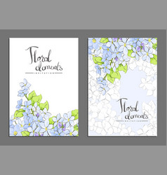 floral covers vector image