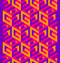 Geometric seamless pattern g letters green vector