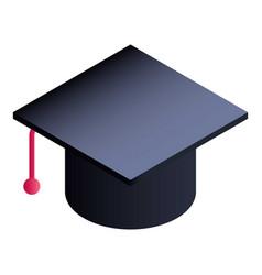 Graduated hat icon isometric style vector