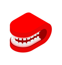 grin mouth closed isometric style isolated vector image