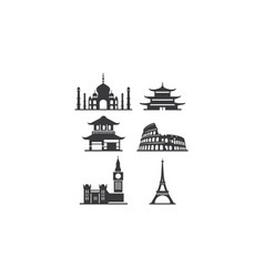 historical building logo icon vector image