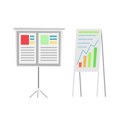Infographics and charts showing info whiteboards vector