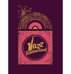 jazz restaurant with saxophone vector image