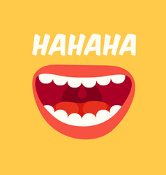 laughing mouth april fools day loud laugh vector image