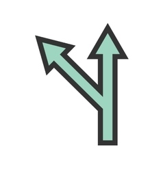 Left Turn Ahead vector