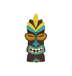 maya hawaiian ethnic idol totem icon vector image