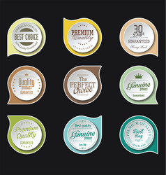 modern badges colorful collection 3 vector image