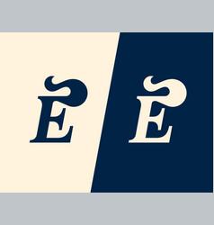 Modern professional logo monogram e hairstyle vector