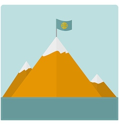 Mountain card vector