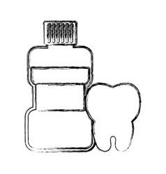 Mouthwash bottle icon vector