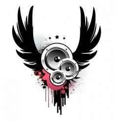 music insignia vector image