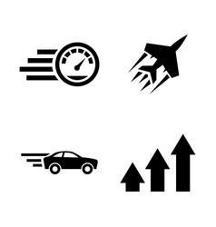 Performance speed simple related icons vector