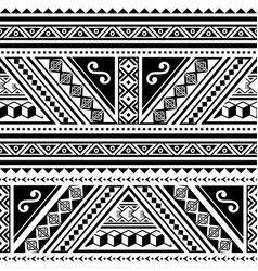 polynesian tribal geometric seamless pattern vector image