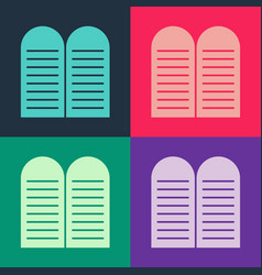 Pop art commandments icon isolated on color vector