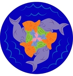Puzzles of fish escher style vector