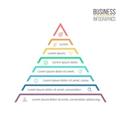 Pyramid triangle with 8 steps levels vector