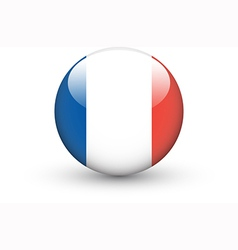 Round icon with national flag france vector