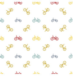 seamless pattern mountain bike vector image